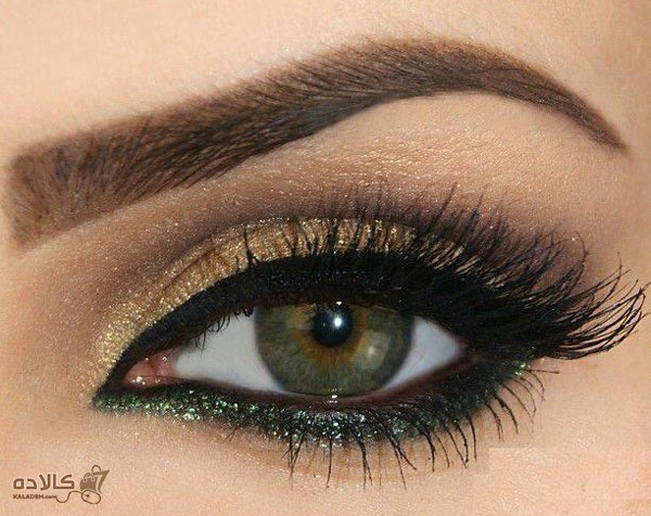 خط چشم رنگی