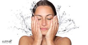 پوست با آب